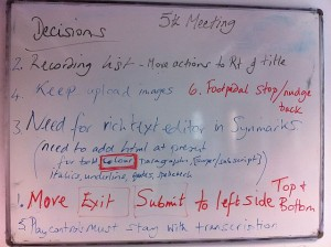 white board notes
