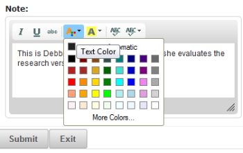 text colour