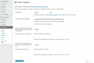 Adding ATbar WordPress plugin