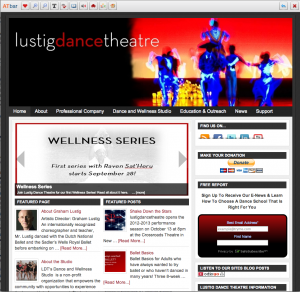 Lustig dance centre screen grab