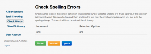 spell checker service in English
