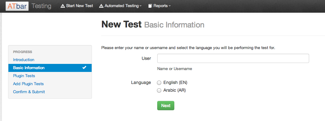 ATbar testing