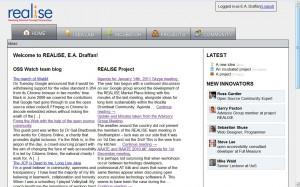 realise web page