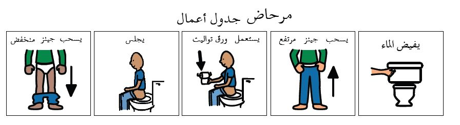 toilet routine Arabic