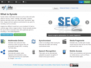 Synote Researcher website